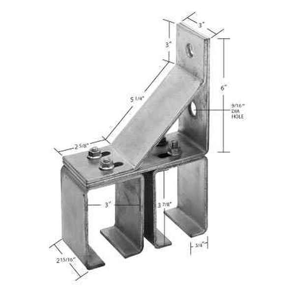 8-4C Heavy Duty Double Wall Bracket
