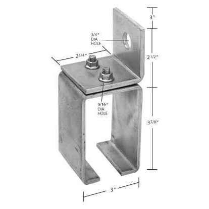 9-4C Heavy Duty Single Wall Bracket